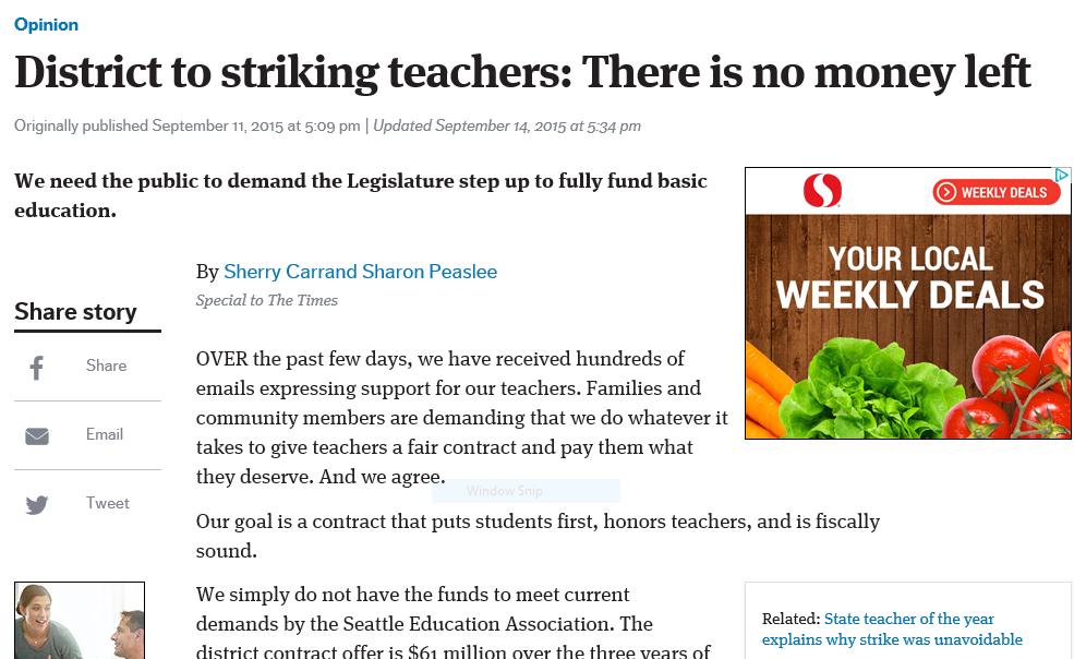District to Striking teachers